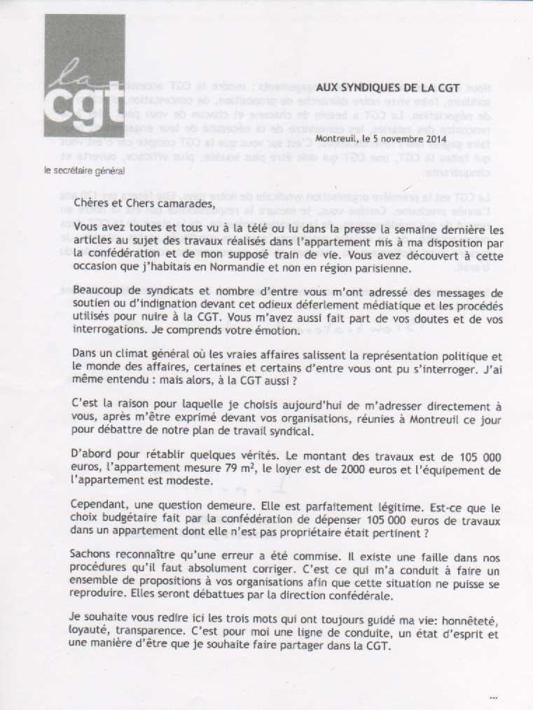 Suite du CCN de la CGT