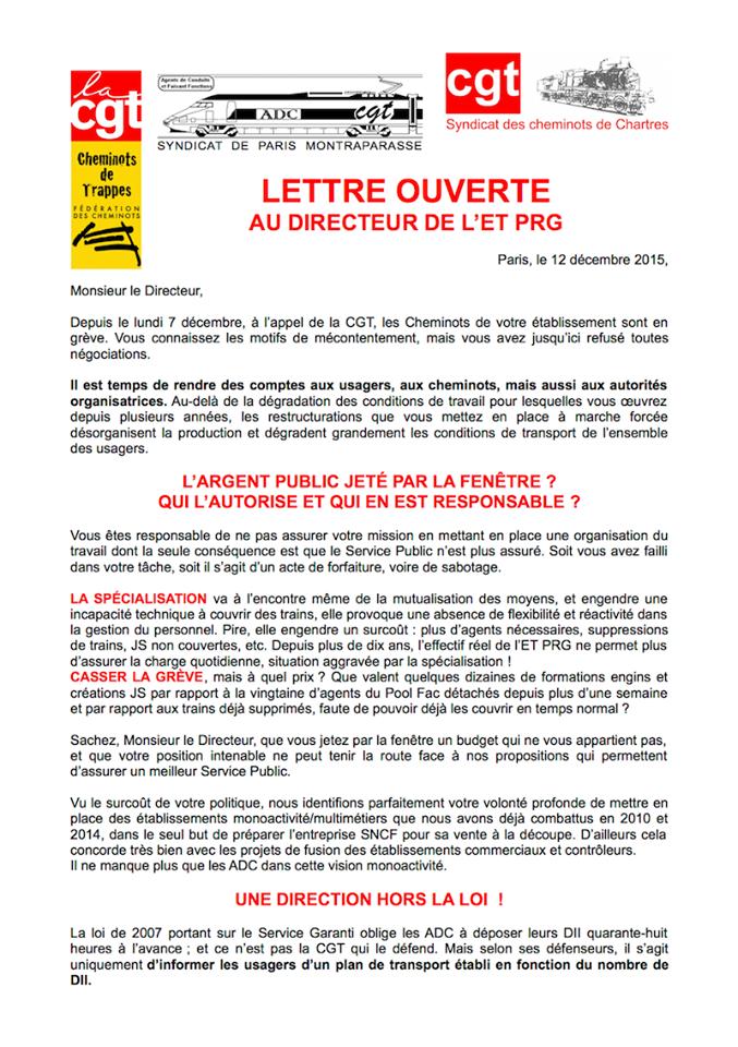 Paris-Chartres SNCF : pour le service public, les cheminots sont en lutte