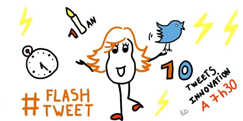 Sketchnote FlashTweet - Mère et Fille 2.0 - Sandrine Delage