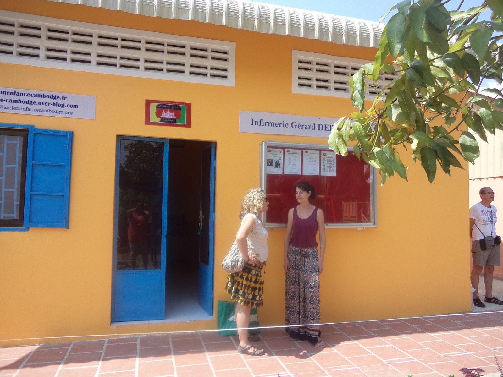 l'infirmerie est construite à l'entrée de l'orphelinat CED-C, province de Kandal