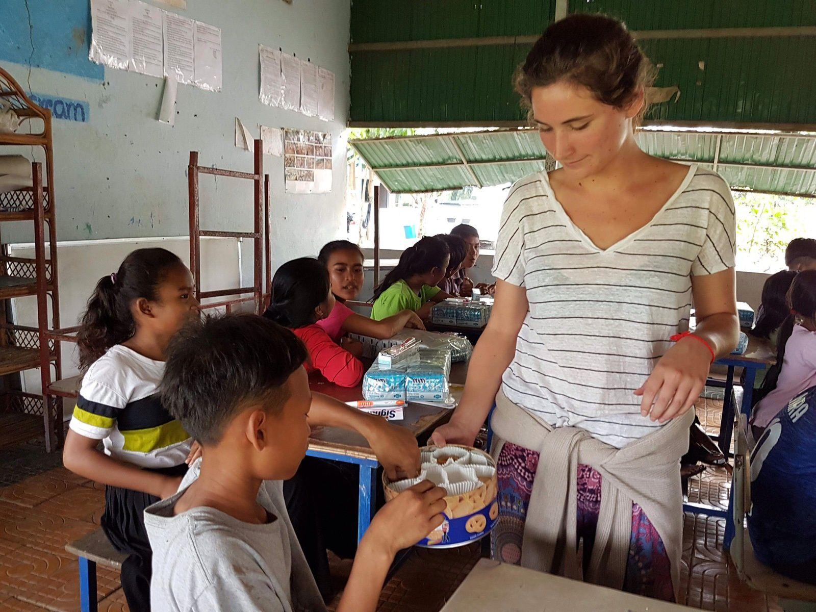 En route vers les enfants de la province de Battambang