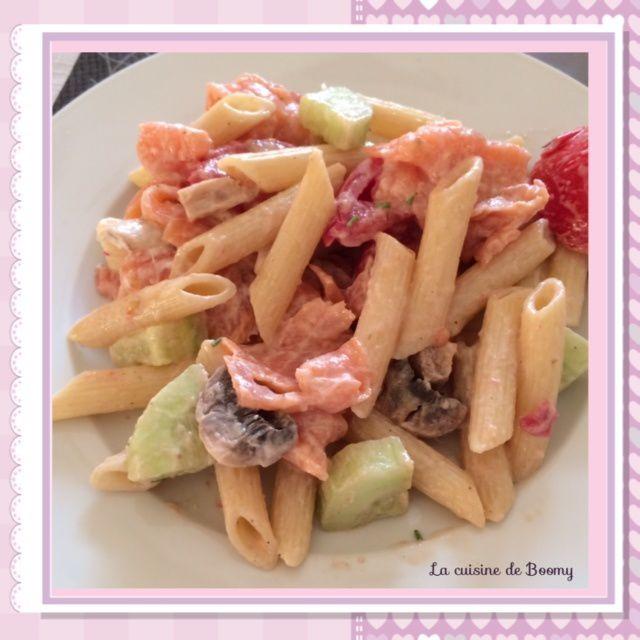 Salade de pâtes au saumon fumé WW