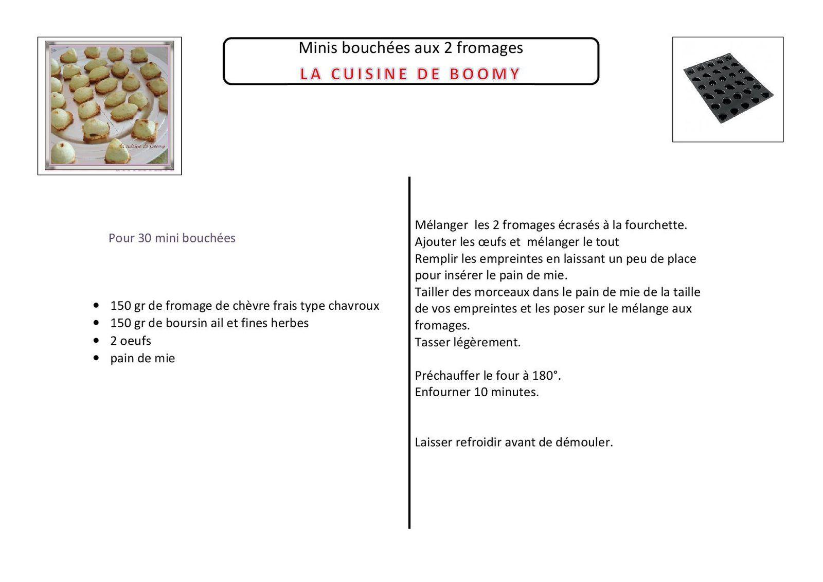 Minis bouchées aux 2 fromages