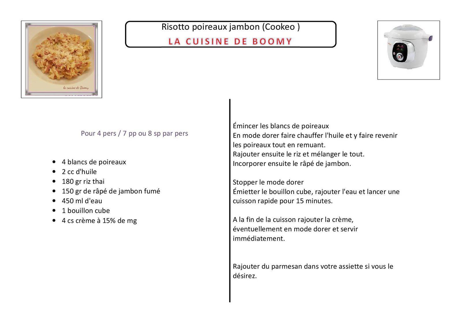 Risotto poireaux jambon (Cookeo )