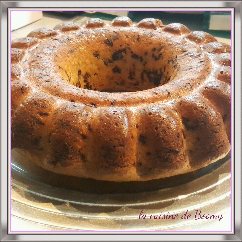 Gâteau au yaourt et aux vermicelles au chocolat