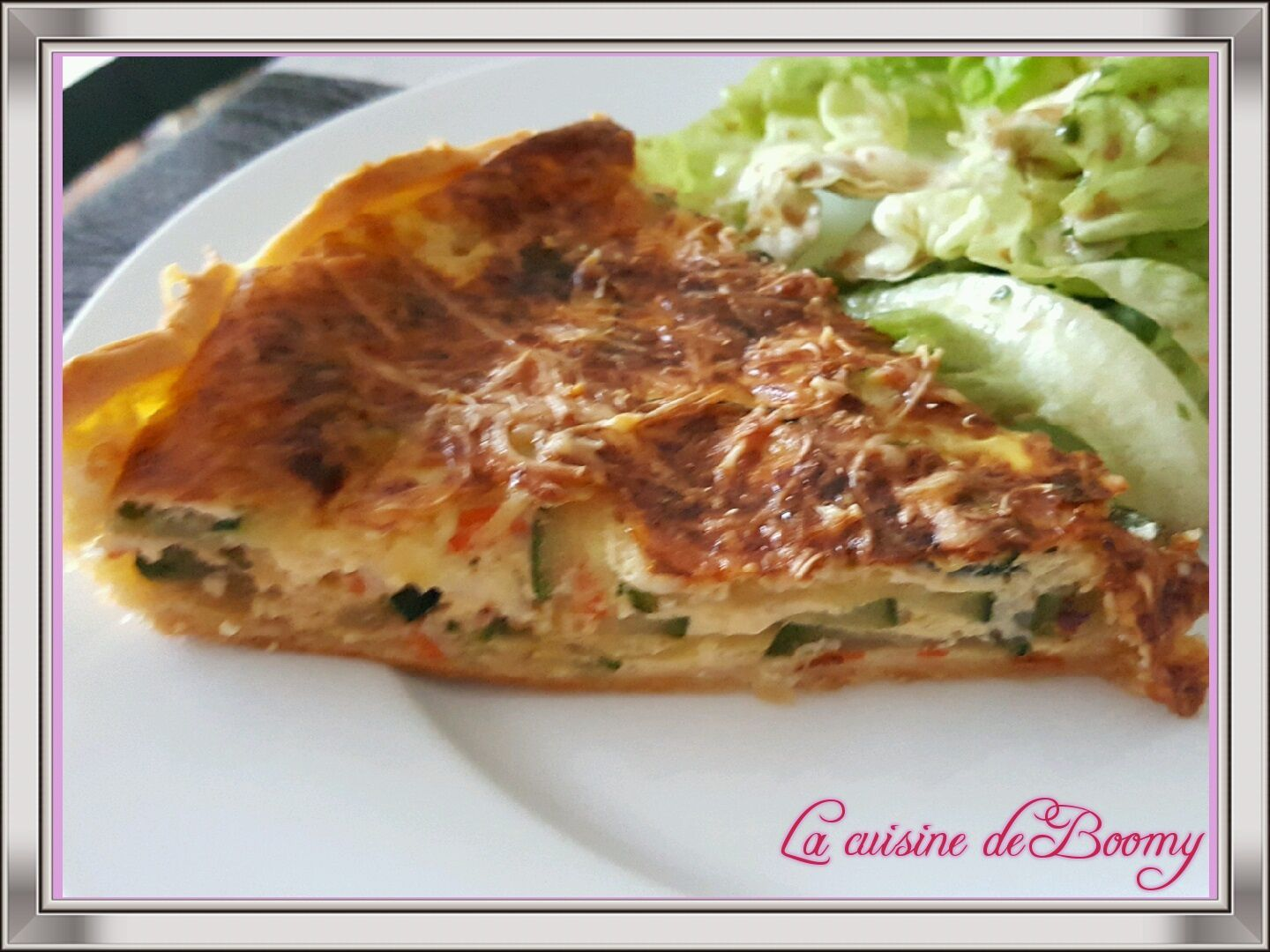 Quiche courgettes / surimi