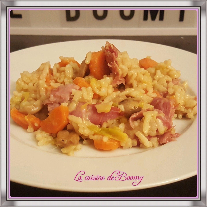 Risotto aux légumes et au bacon WW (Cookeo ou non)