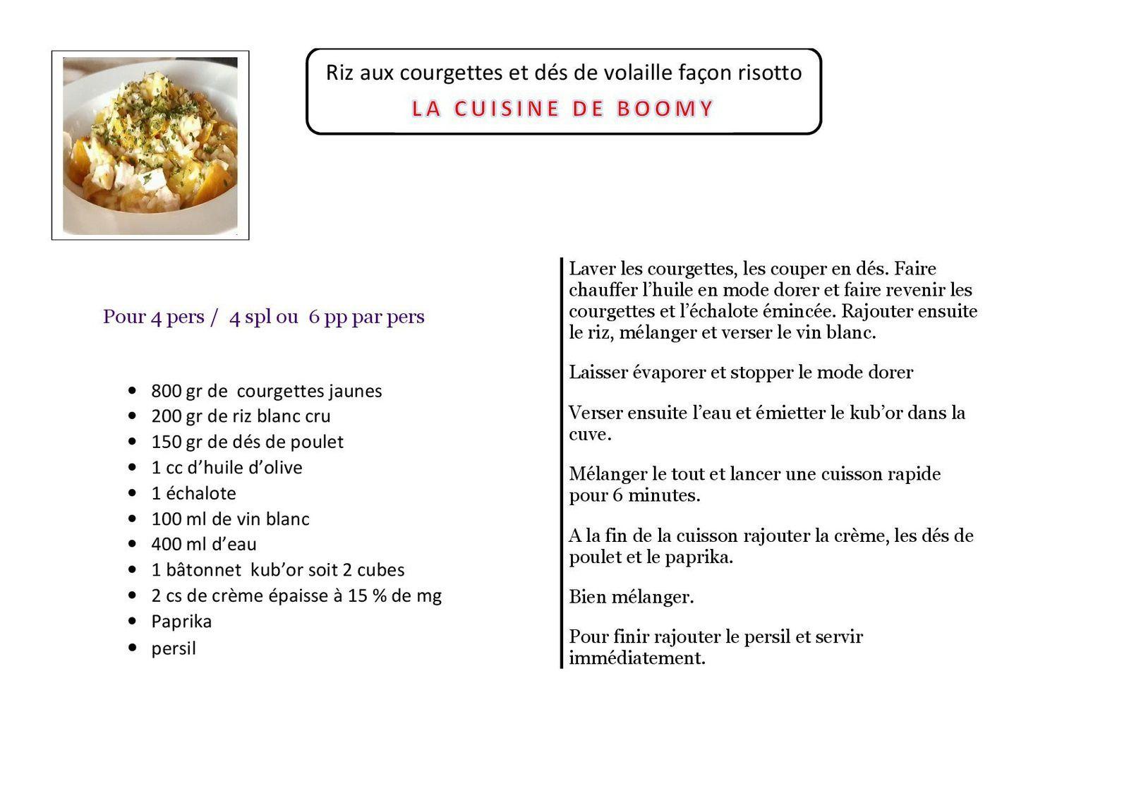 Riz aux courgettes et dés de volaille façon risotto (Cookeo)