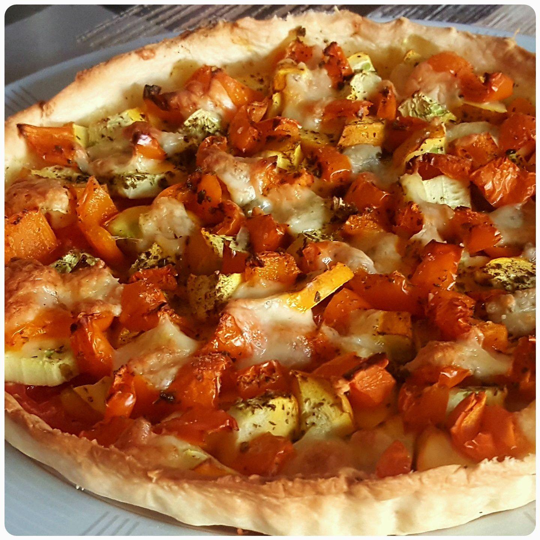 Tarte aux légumes et à la mozzarella