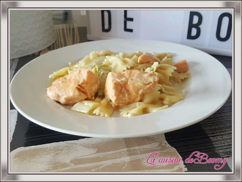 Farfalle saumon / poireaux (Cookeo)