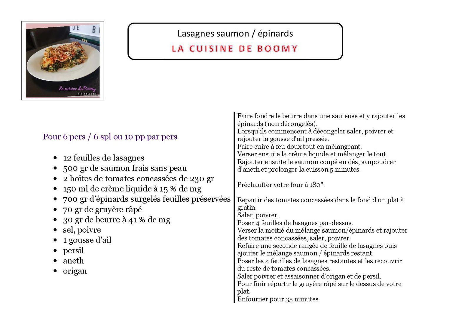 Lasagnes saumon / épinards