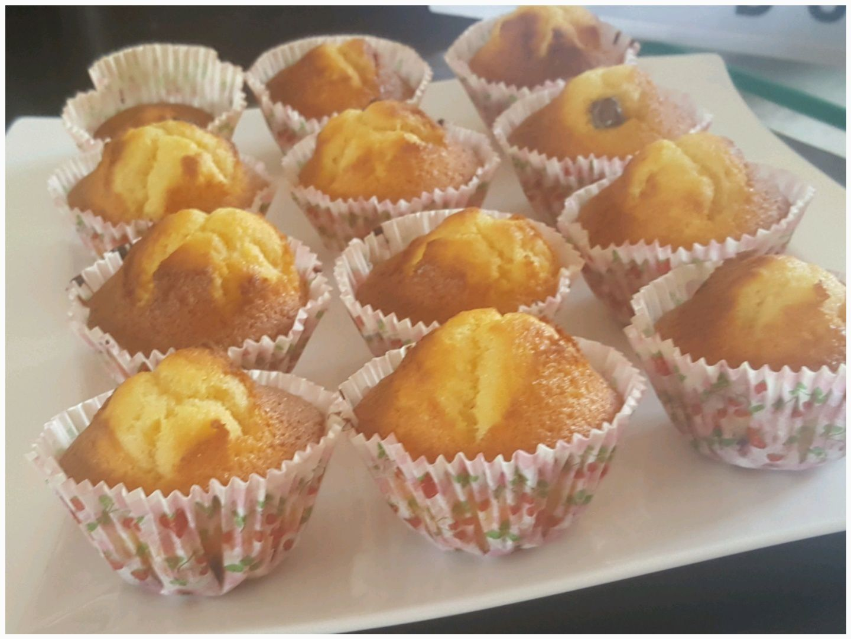 Muffins au chocolat blanc et pépites chunks