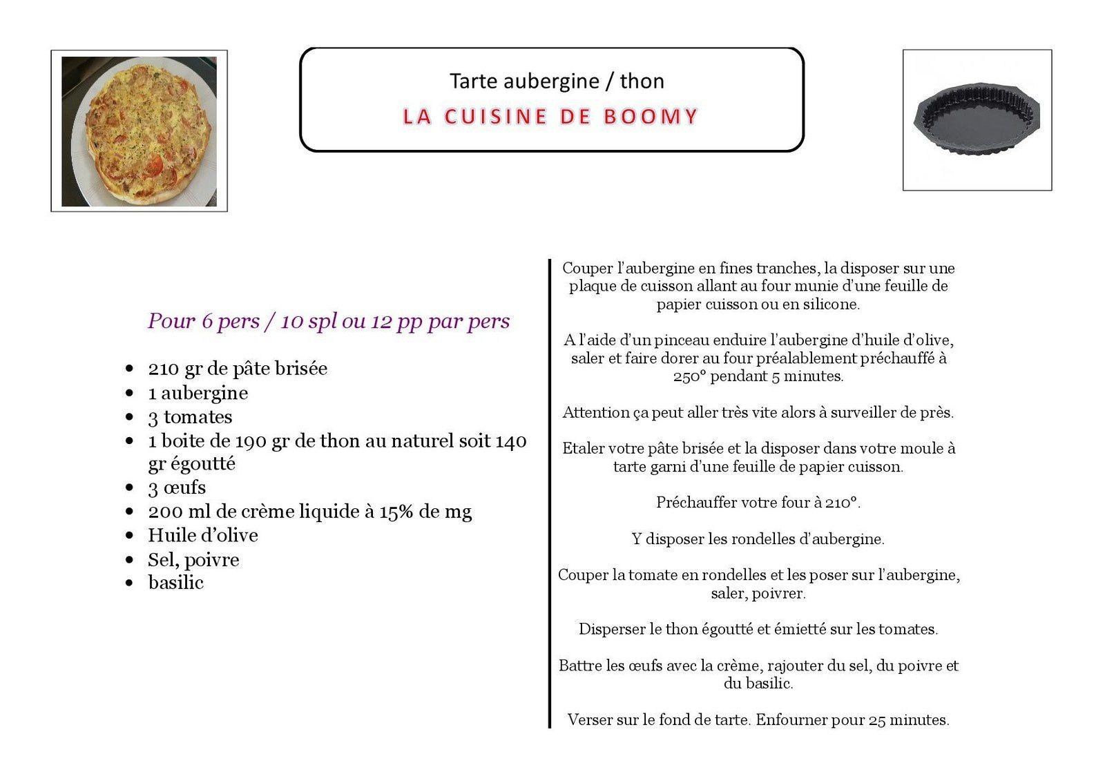 Tarte aubergine / thon