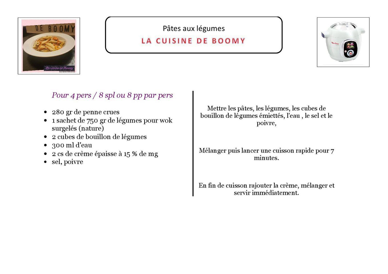 Pâtes aux légumes (Cookeo)