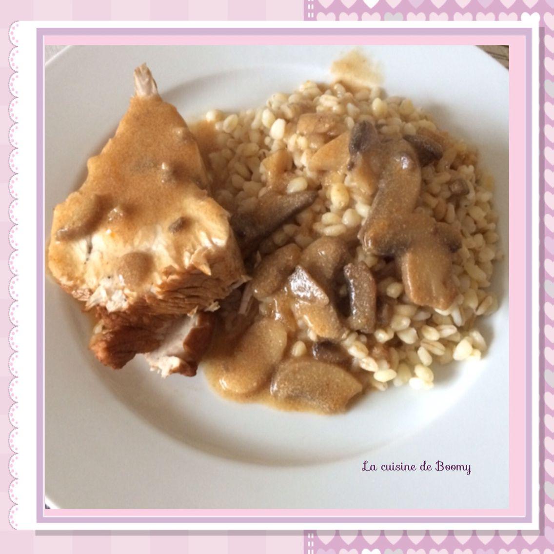 Filet de dinde aux champignons et vinaigre balsamique (Cookeo)