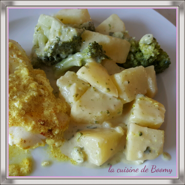 Pommes de terre et brocolis sauce moutarde (Cook'in)