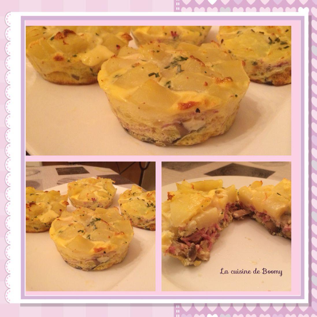 Omelette champignons / pommes de terre