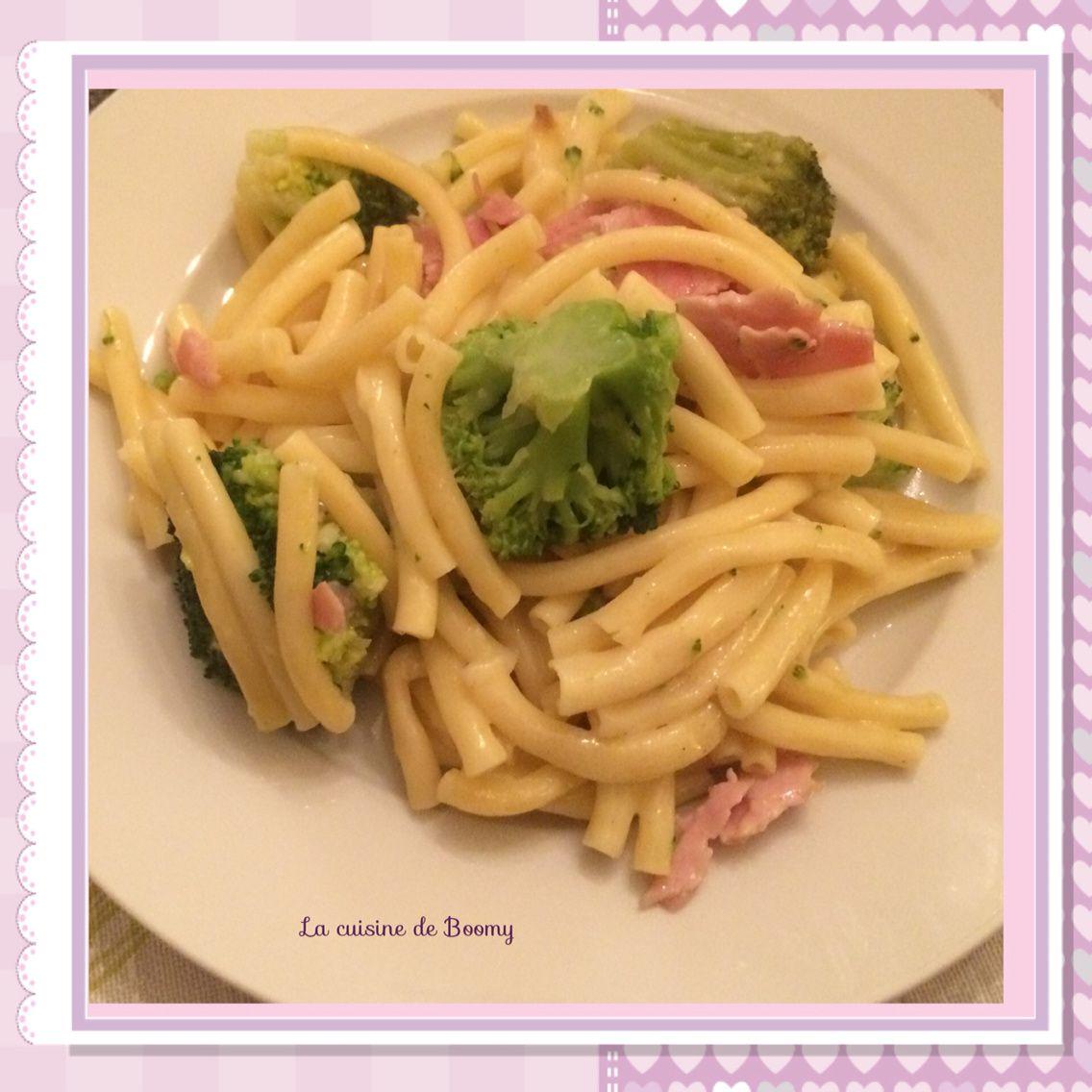 Macaronis aux brocolis et à la cancoillotte WW