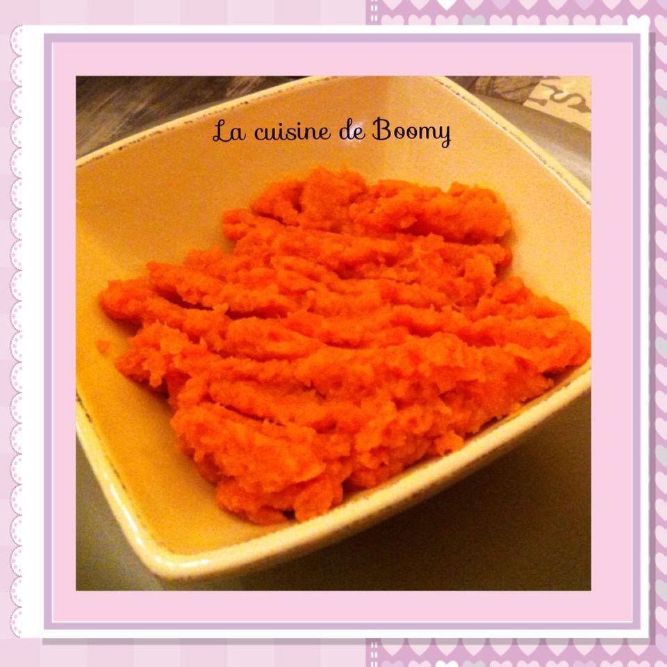Purée de carotte au curcuma WW