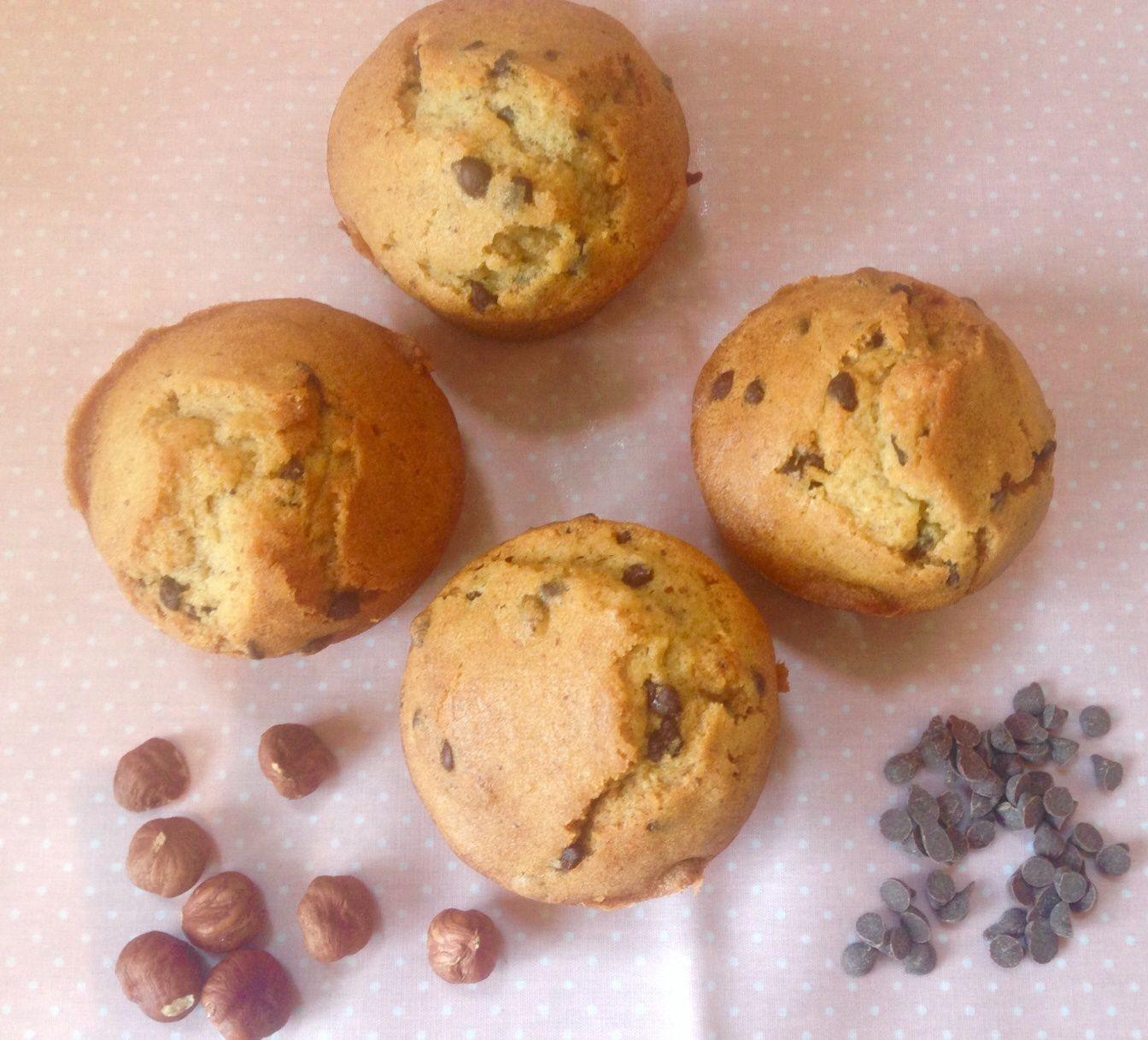 Mes muffins noisettes-pépites de chocolat