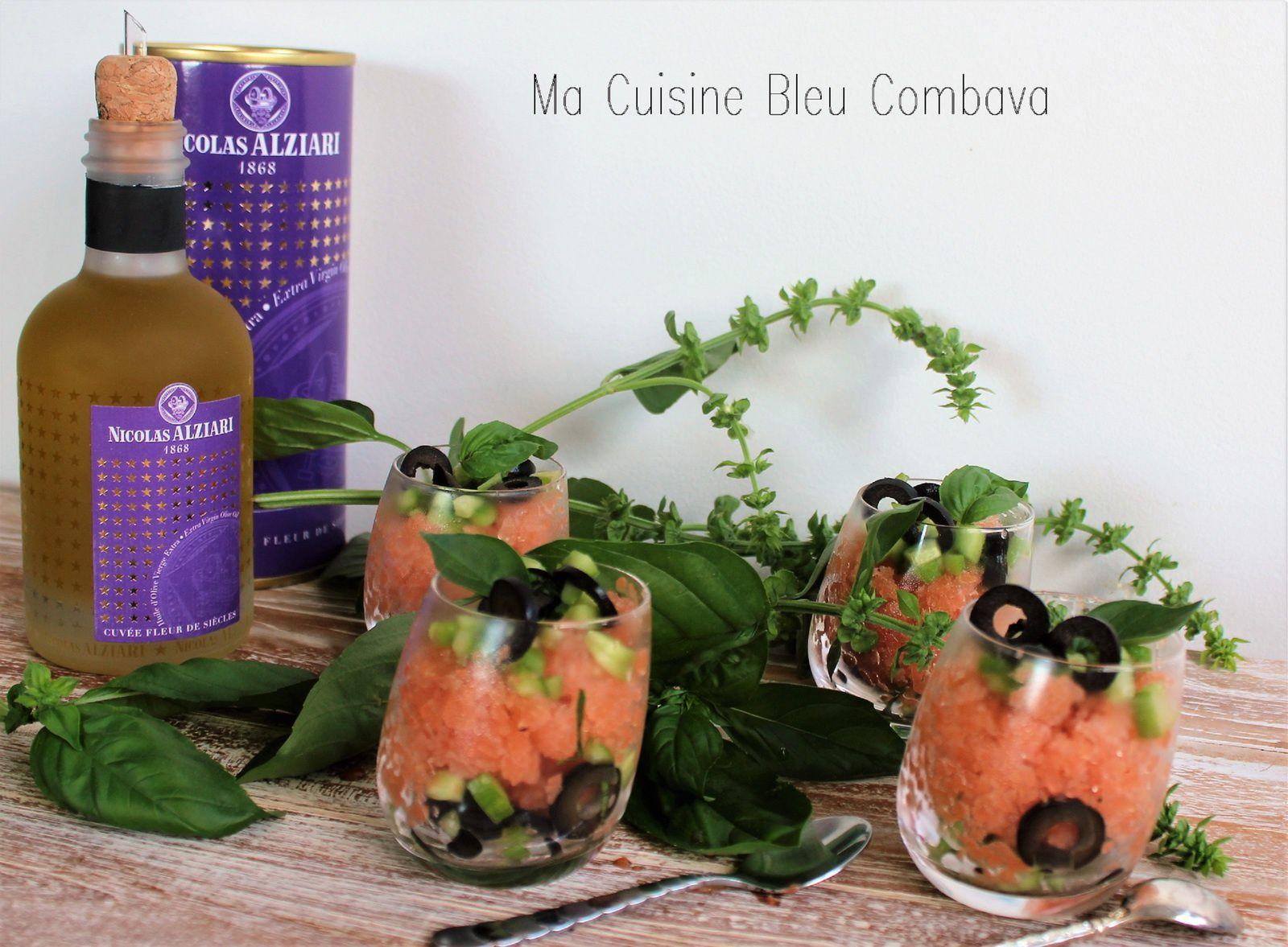 Granité Salé, Tomate & Rhubarbe