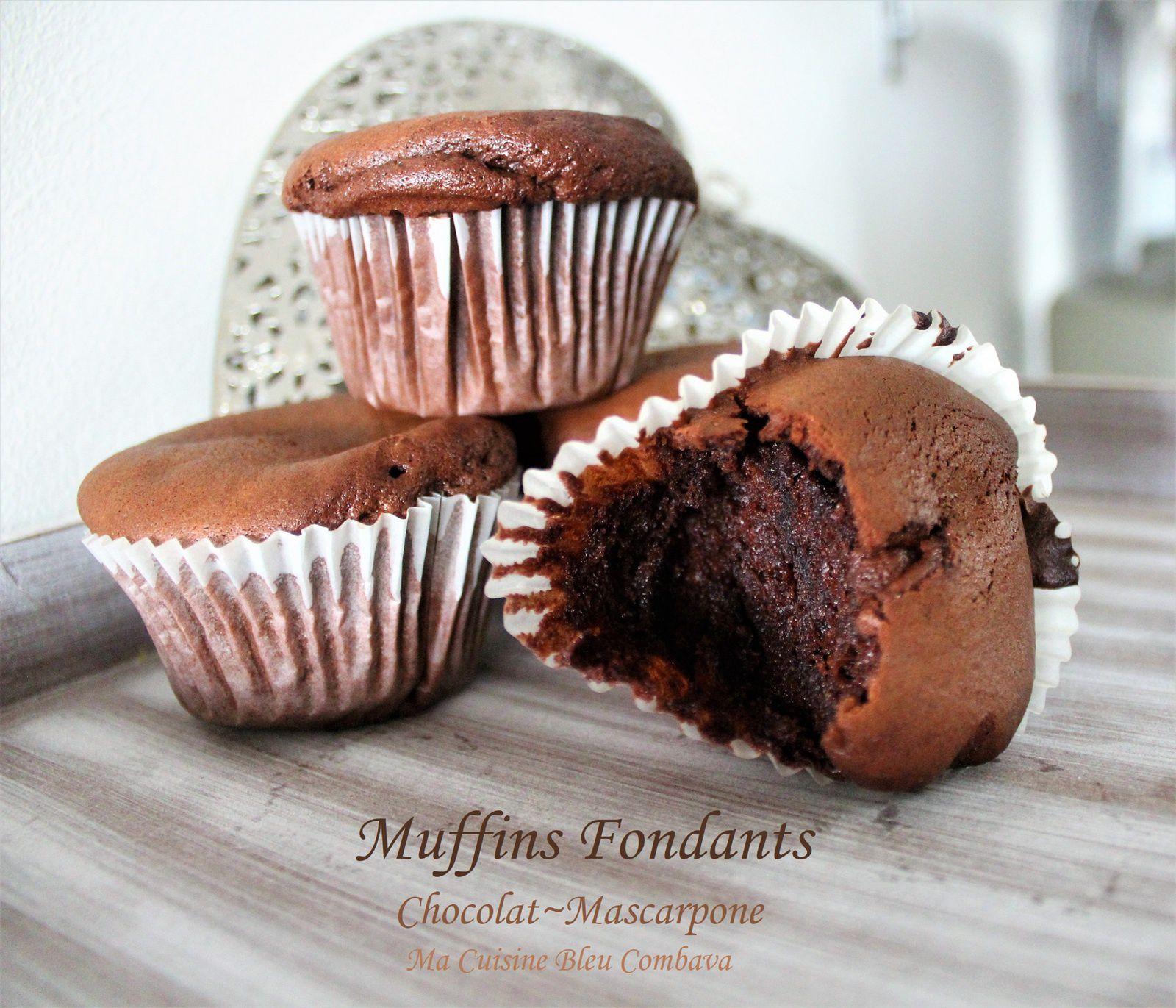 Muffins Fondants Chocolat~Mascarpone
