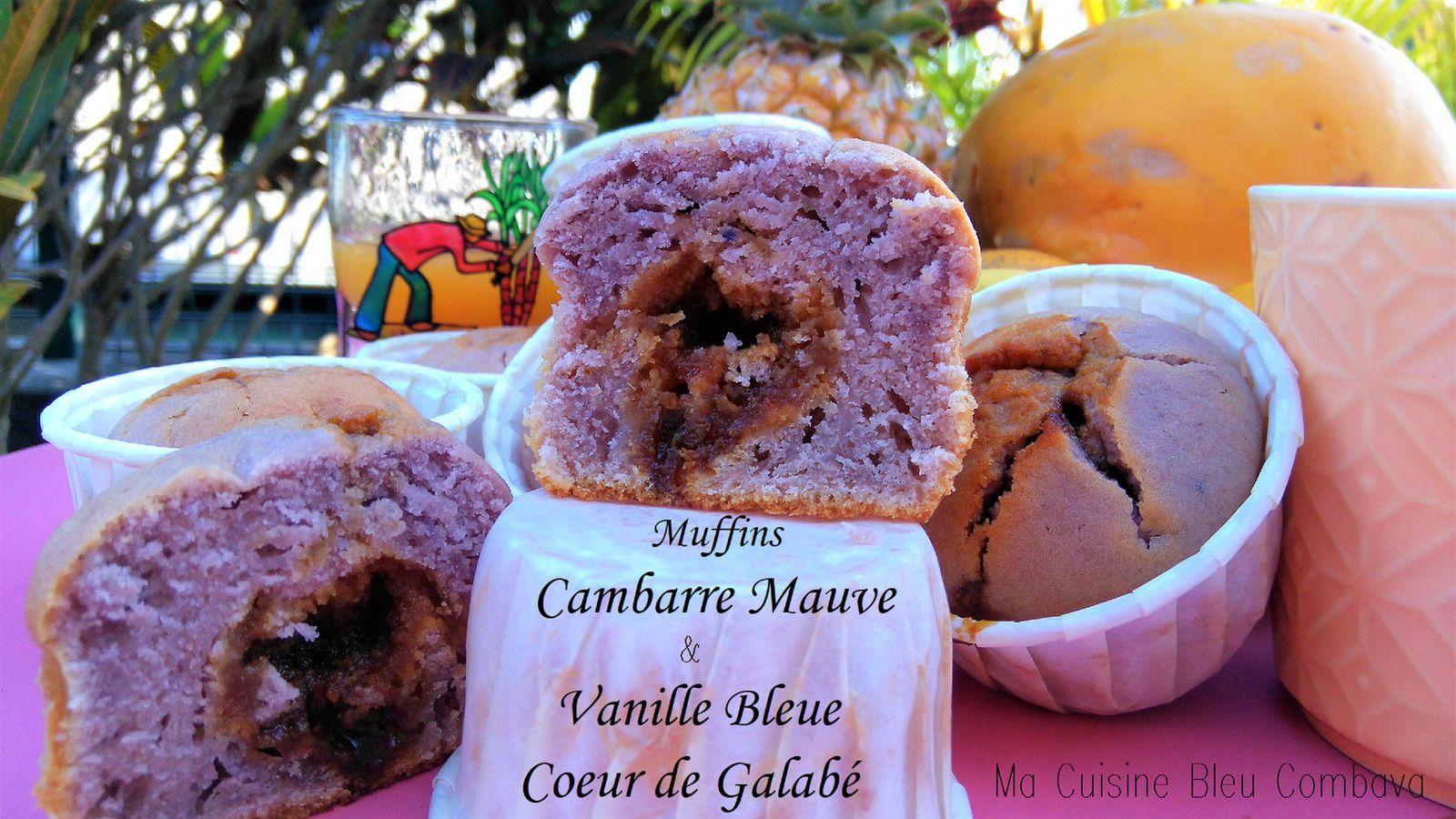 Muffins au Cambarre Mauve & Vanille Bleue, Coeur de Galabé #semaine créole 2017 #somén kréol 2017
