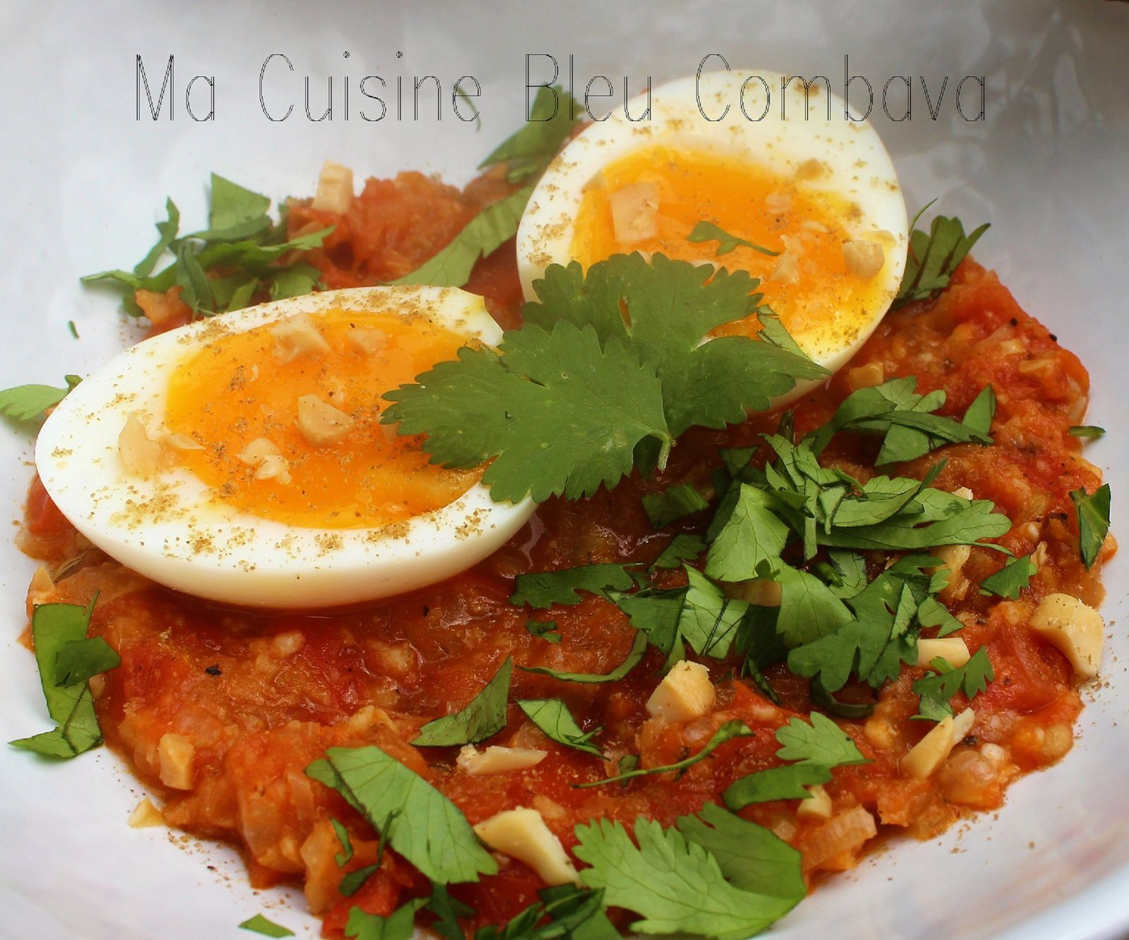 Anda Moufalli Masala ou Curry d'Oeufs aux Cacahuètes~Cuisine Indienne~