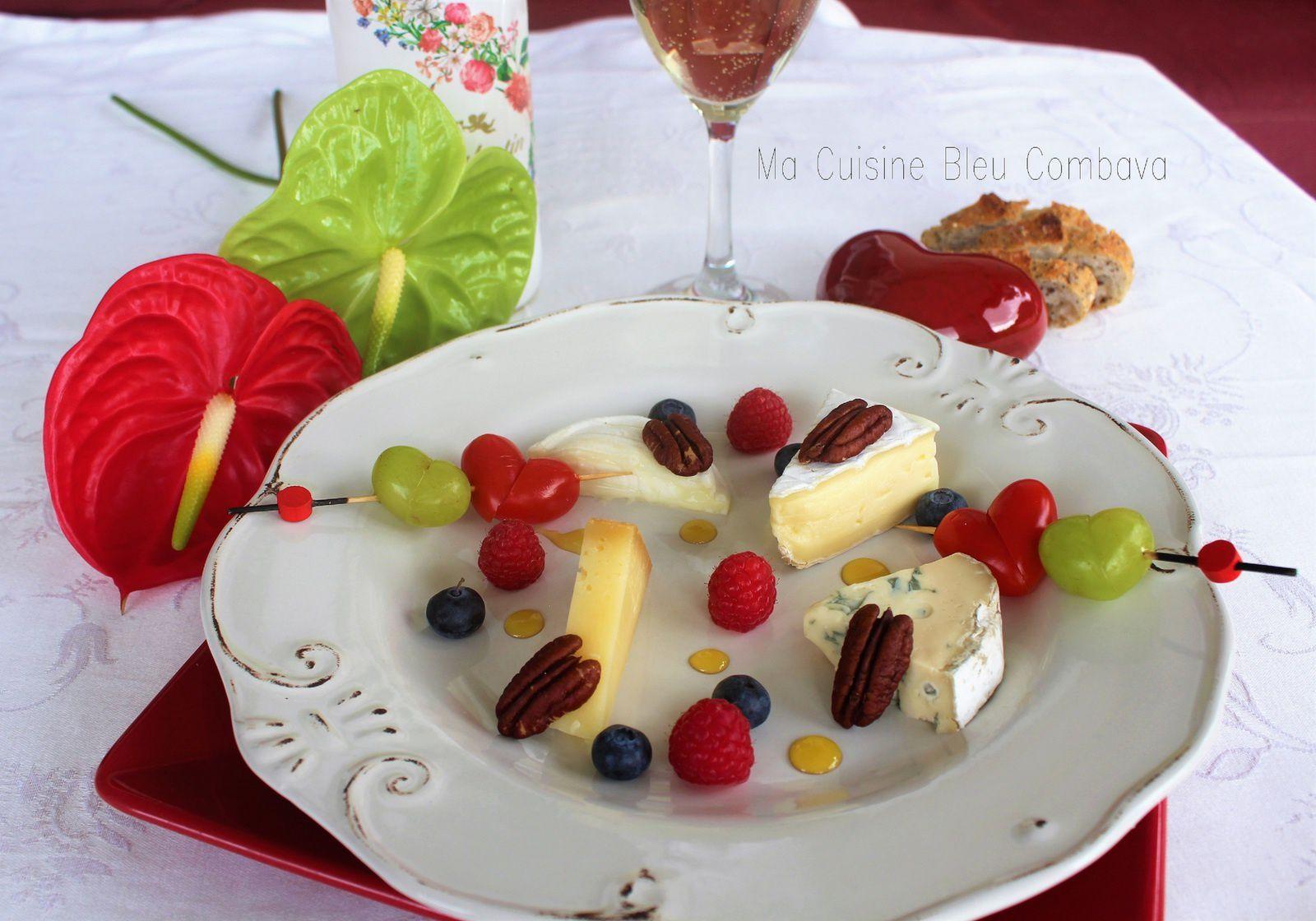 Assiette Fruits & Fromages, touche de Miel