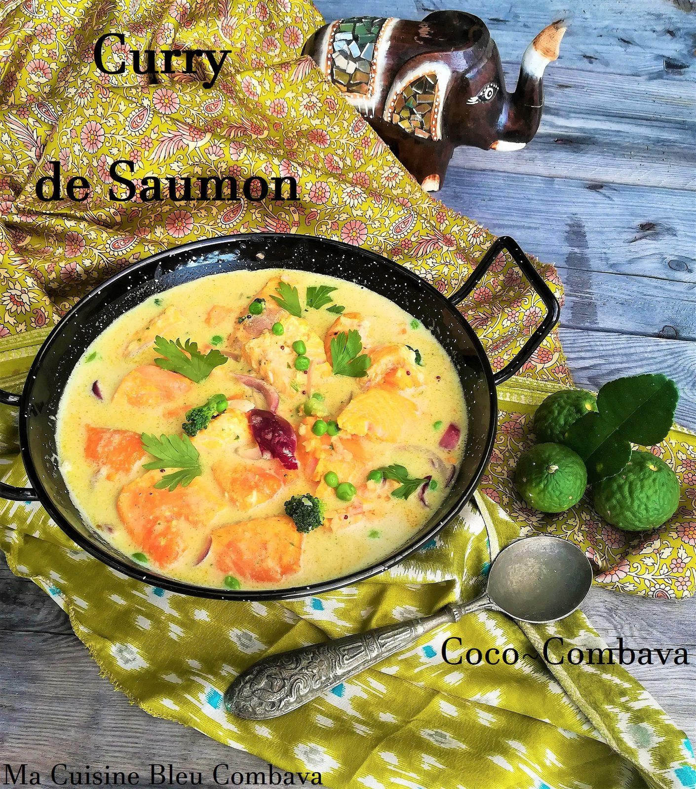 Curry de Saumon Coco Combava ~ Saveurs Indiennes ~