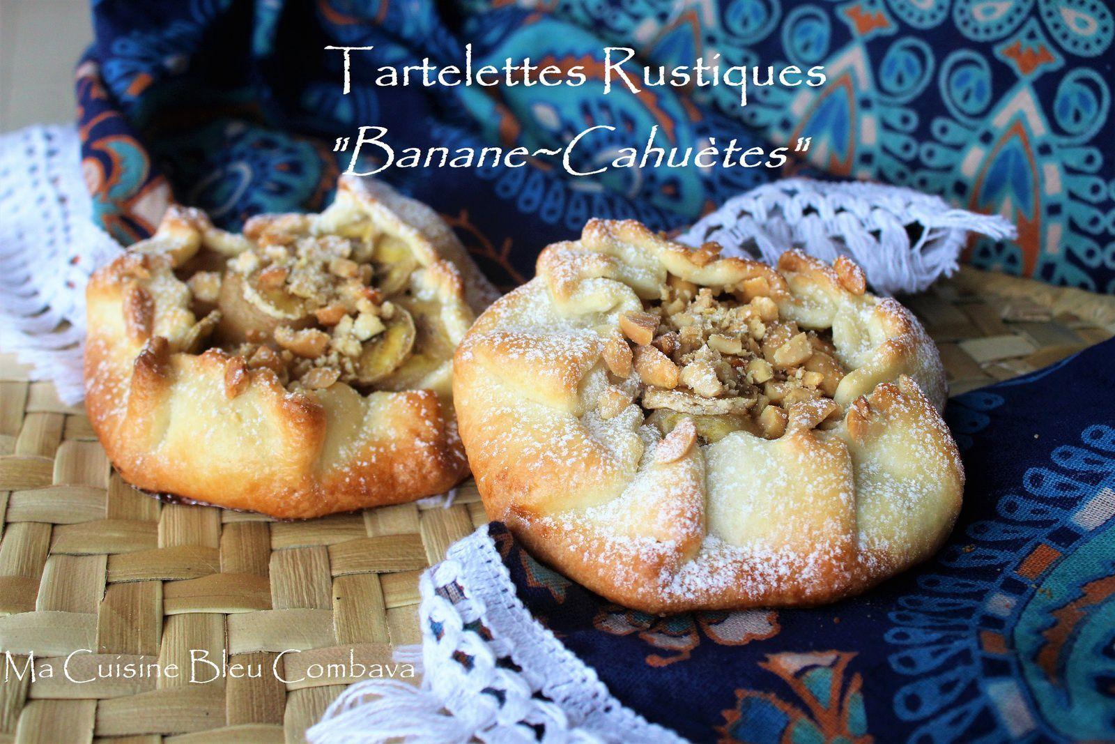 """Tartelettes Rustiques """"Banane~Cahuètes"""" ~recette rapide & économique~"""