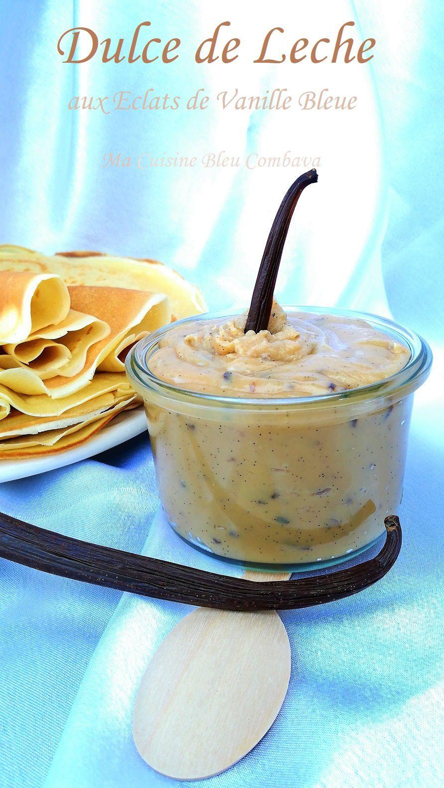 Dulce de Leche aux Éclats de Vanille Bleue (Confiture de lait)