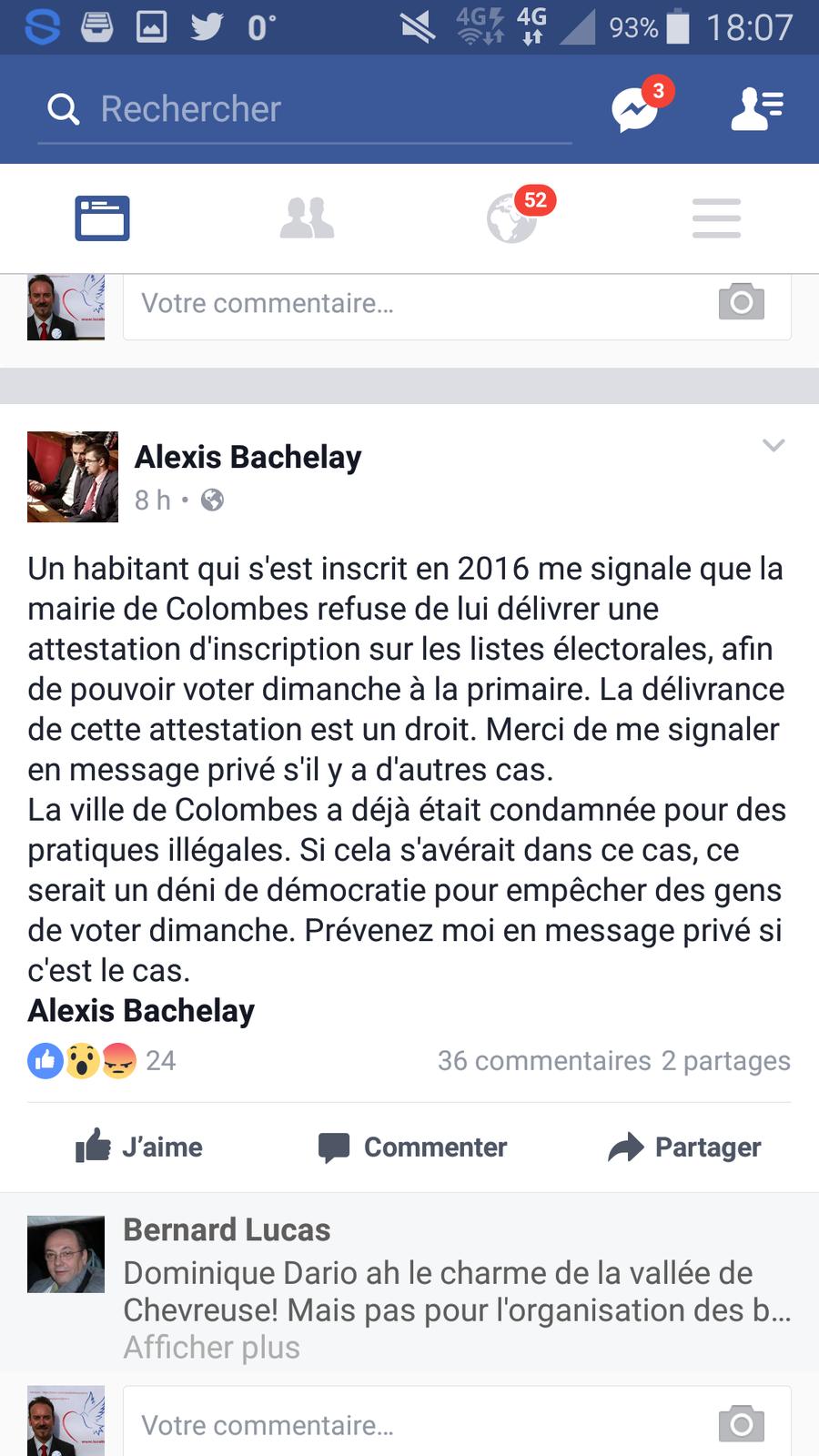 La Mairie (LR) de Colombes bloquerait-elle les demandes des citoyens pour obtenir une attestation d'inscription sur les listes électorales ?