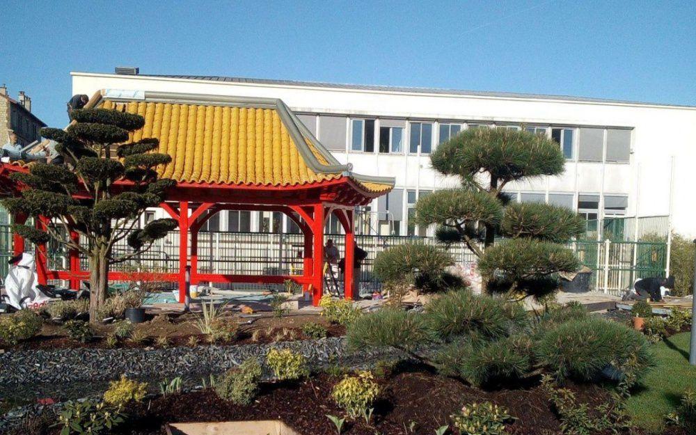 Le square Médéric installe un bout de Japon au cœur de Colombes
