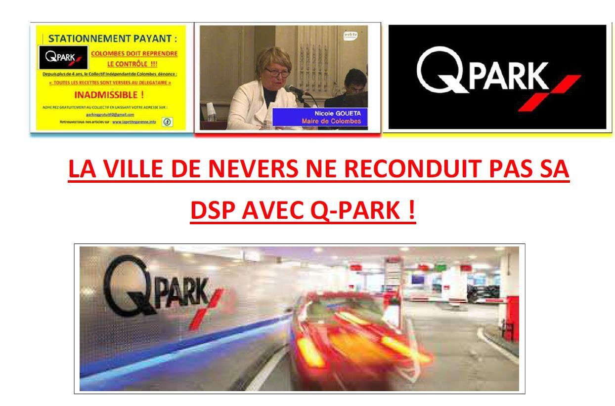LA VILLE DE NEVERS NE RECONDUIT PAS SA DSP AVEC Q-PARK !