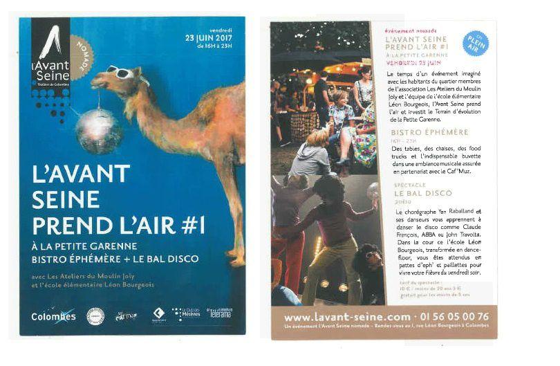 Ecole Léon Bourgeois B (Terrain d'évolution) : l'Avant Scène prend l'air le vendredi 23 juin à partir de 16h à la Petite Garenne
