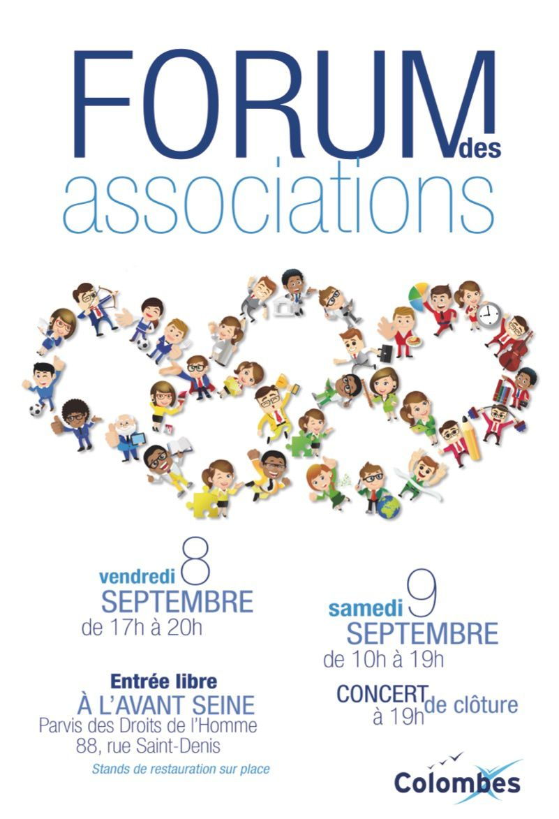Forum des associations de Colombes du 8 au 9 septembre à l'avant Scène