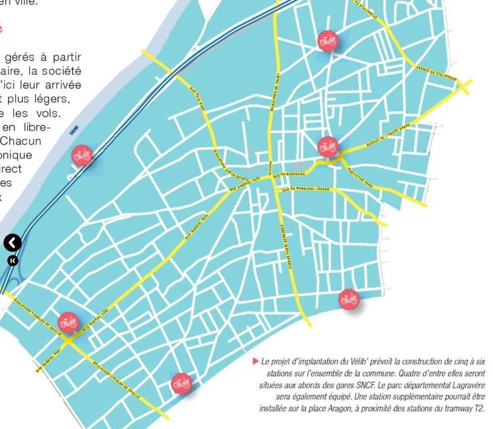 """Vélib' à Colombes : enfin .....le vélo arrive en grande """"pompe"""""""