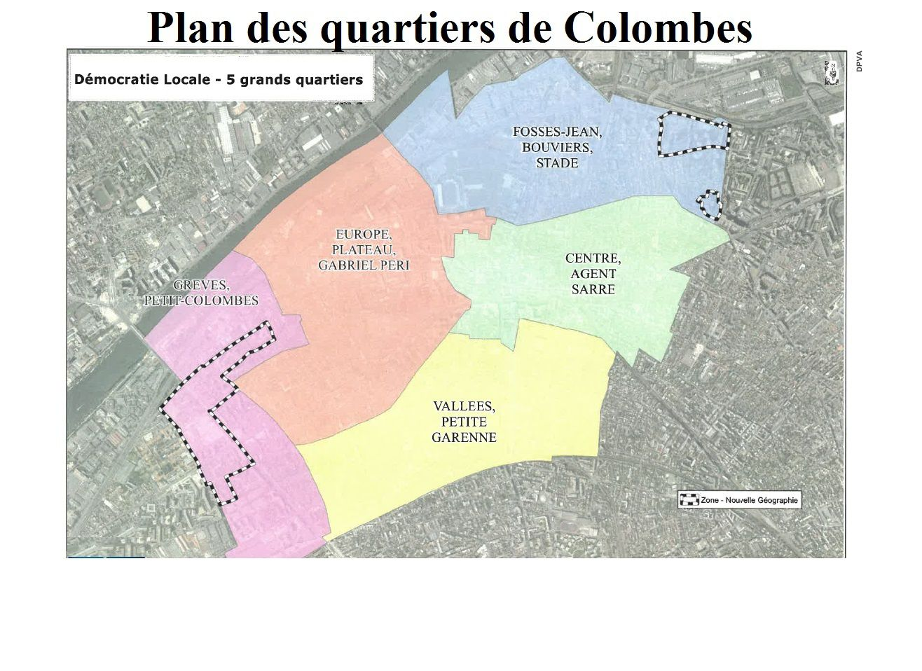 A - Carte des quartiers de Colombes