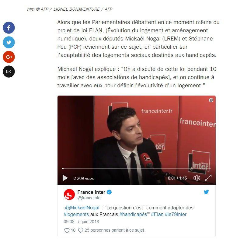 """Accès des handicapés aux HLM et loi Elan : """"Une régression sous le poids des lobbys du bâtiment"""""""