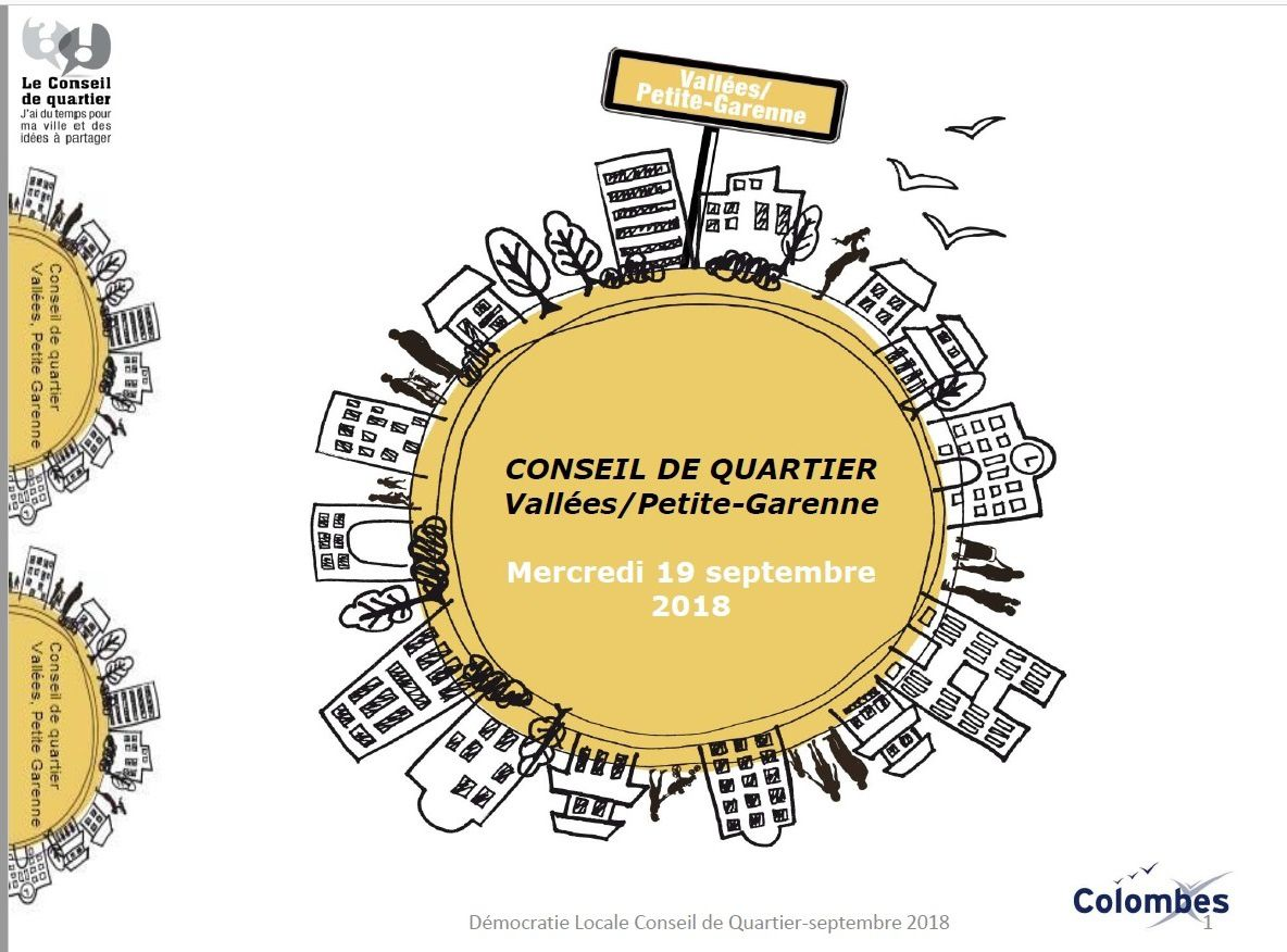 Réunion de quartier les vallées / Petite Garenne : mercredi 19 septembre école Léon Bourgeois B 19H30