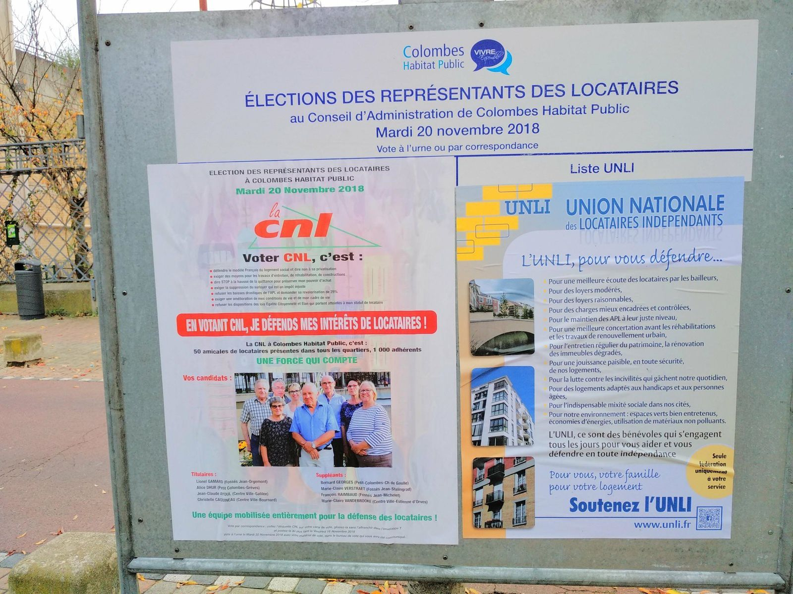 """Election des locataires : une bien étrange liste Indépendante avec la présence d'un Maire Adjoint de Colombes et une affiliation à """"famille de France"""""""