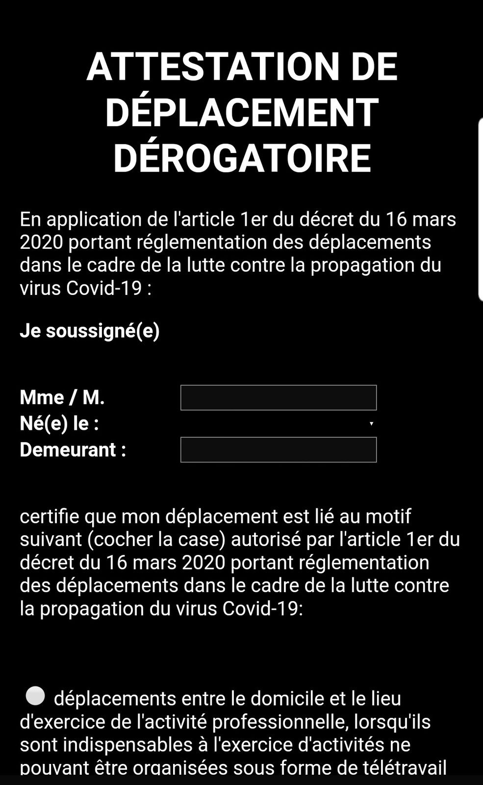 ATTENTION AUX FAUSSES ATTESTATIONS DE SORTIES