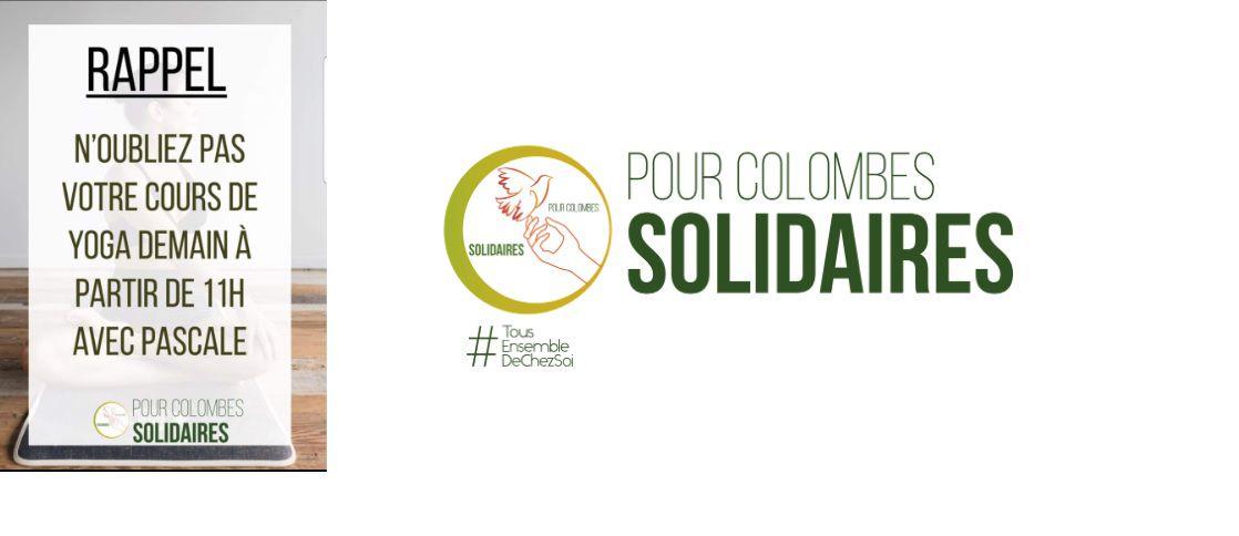 YOGA gratuit c'est en direct avec #pourColombesSolidaires