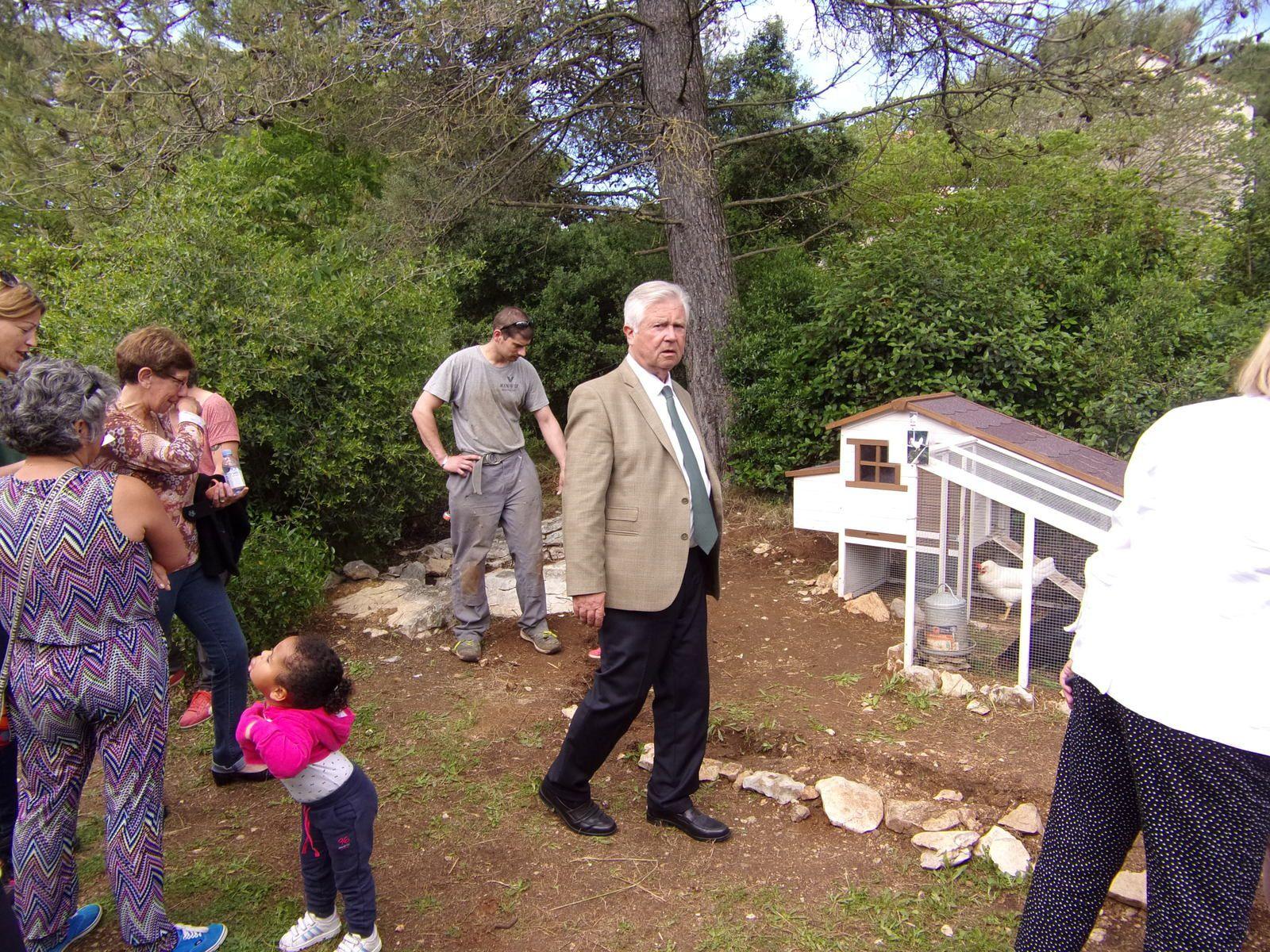 Inauguration de l'extension du jardin partagé