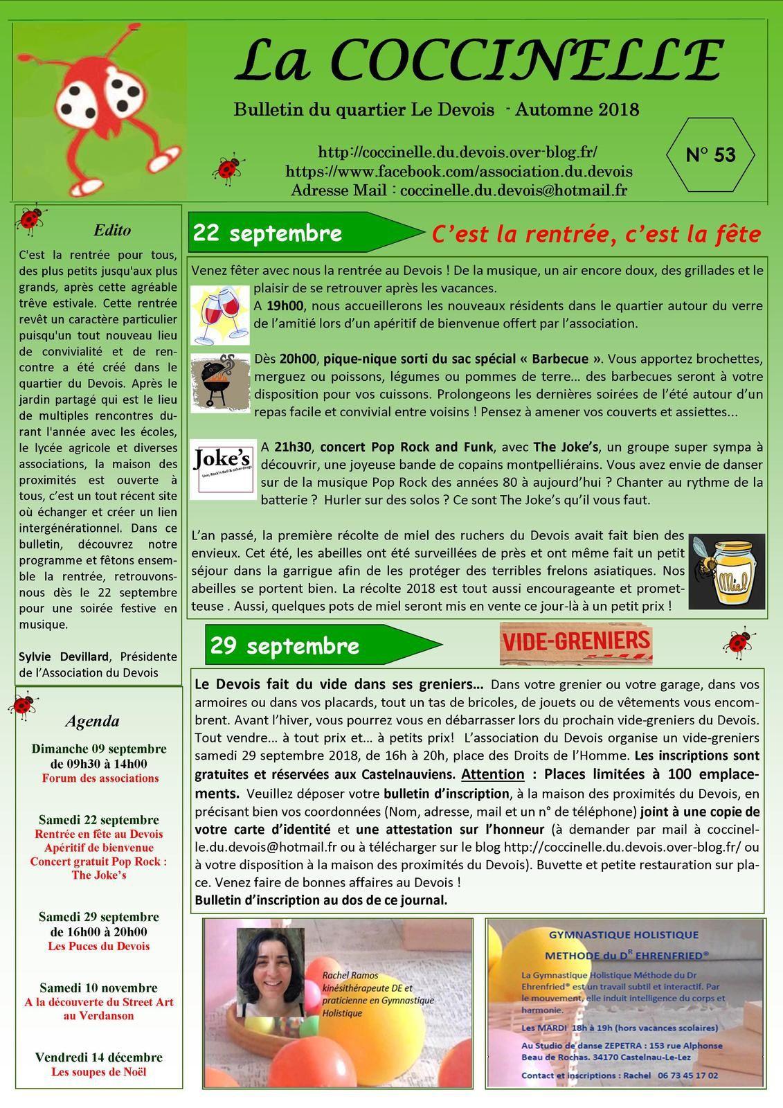 Bulletin N°53 - Automne 2018