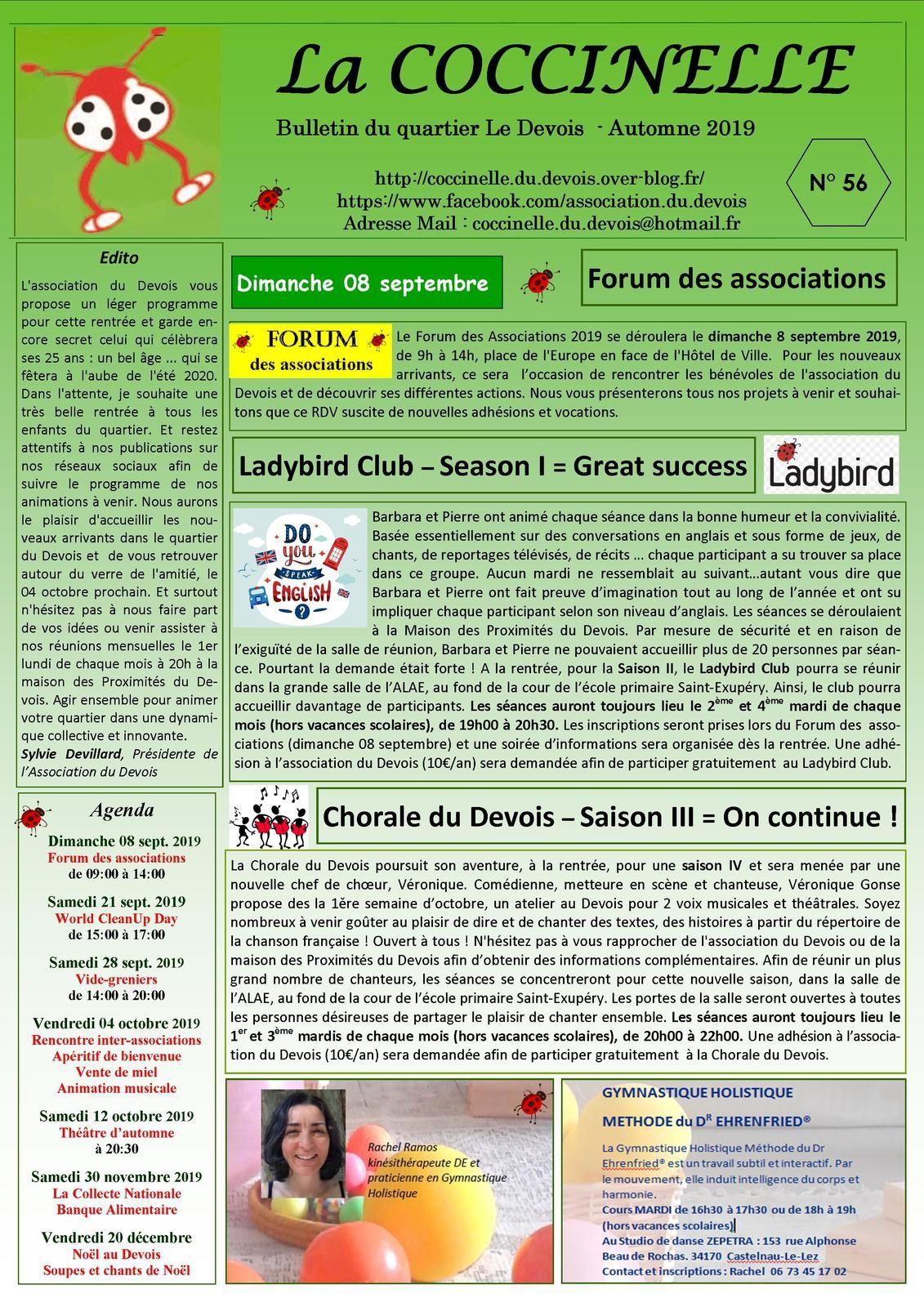 Bulletin N°56 - Automne 2019