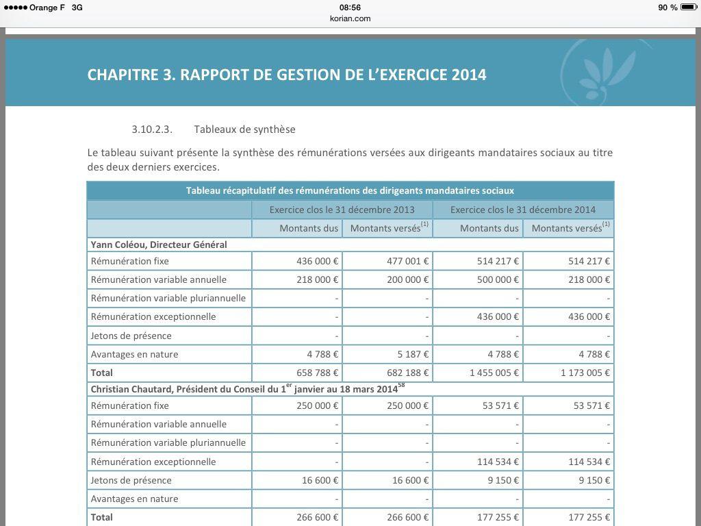 Yann Coleou: + 132% d'augmentation entre 2013 et 2014!!! C'est la crise!!!