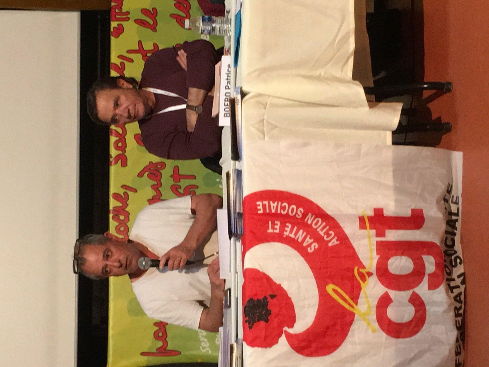 Motion contre la répression syndicale envers la CGT Korian, présentée par Albert Papadacci, DSC, adoptée à l'unanimité par le congrés.