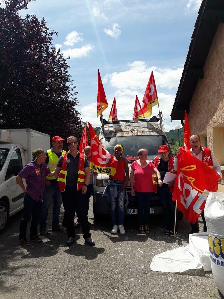 La CGT Korian en lutte à Korian Les Aurelias à Pollionay et à l'Agora à Vauvenargues.